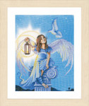 "PN157488 Lanarte Kit Angel in the Night Printed back. ; 14"" x 18""; White Linen; 27ct"