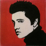 Elvis Pop Art Needlepoint- Unique New Zealand Designs