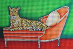 Big Cat on Pink Couch-Unique New Zealand Designs