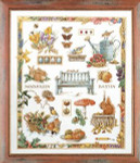 "PN7961 Lanarte Kit Collage by Marjolein Bastin 21"" x 25""; Evenweave; 27ct"