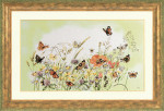 "PN7967 Lanarte Kit Flowers/Butterfly by Marjolein Bastin 22"" x 13"" ; Evenweave; 27ct"