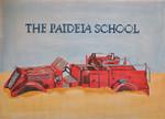 "JKNA-‐001 Paideia School Fire Truck 18 Mesh  12.5"" x 9"" Judy Keenan NeedleArts"