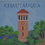"""JKNA-‐002 Chautauqua Bell Tower 10"""" x 10"""" 13 Mesh  Judy Keenan NeedleArts"""