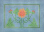 "JKNA-‐005 Sunflower  11"" x 8"" 18 Mesh  Judy Keenan NeedleArts"