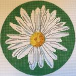 """JKNA-‐014 Round Shasta Daisy 10.5"""" circle 13 Mesh Judy Keenan NeedleArts"""