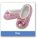 Pink Size Large-Shoe Size 9/10 Snoozie Classic Bling Sequin Ballerina