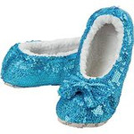 Aqua Mariene Size Medium-Shoe Size 7/8  Snoozie Bling Collection Sparkle