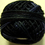 Valdani Pearl Cotton Size 12 Ball Black Night - 12VAM91