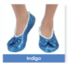 Indigo Size Small-Shoe Size 5/6 Snoozie Brilliance Bling Collection