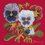 BG11 Pansy Bright Red Background Kit  Elizabeth Bradley Designs
