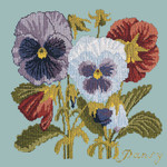 BG11 Pansy Pale Blue Background Kit  Elizabeth Bradley Designs