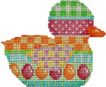 BD-103 Egg/Pattern Stripe Duckie 3.5x2.75 18 Mesh Associated Talents