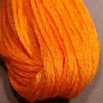 Valdani Floss 6Ply Skein Solid Orange Red Medium - VAS1264