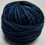 Valdani Pearl Cotton Size 12 Ball Darkened Blue - 12VAH207