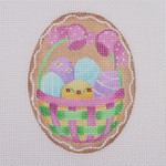 "BB 0423 Cookie / Basket of Eggs 18 Mesh Burnett And Bradley Size: 2.75"" x 3.75"""