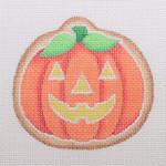 "BB 0485Fat Pumpkin / Jack-O'-Lantern Face 3.25"" x 3.5""18 Mesh Burnett And Bradley"