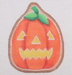 "BB 0484 Tall Pumpkin / Jack-O'-Lantern Face 3.75"" x 3"" 18 Mesh Burnett And Bradley"