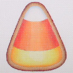 "BB 0491 Candy Corn 	3.75"" x 3.25"" 18 Mesh Burnett And Bradley"