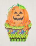 "BB 0531 Cupcake / Pumpkin  5"" x 3.75"" 18 Mesh Burnett And Bradley"