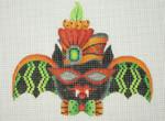 """BB 0548Halloween / Bat Girl / Green Patterned Wings / Red & Orange Hat / Red Sunglasses 5 1/2"""" 18 Mesh Burnett And Bradley"""