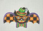 "BB 0549Halloween / Bat Boy / Orange Checked Wings / Green & Orange Hat / Orange 5 1/2"" 18 Mesh Burnett And Bradley"