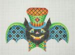 BB 0569Halloween / Bat Boy / Blue & Black Squares on Wings / Orange & Green Top Hat 18 Mesh Burnett And Bradley