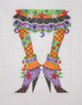 "BB 0573 6"" x 4"" Halloween / Happy Legs / Funky Skirt / High Heels / Lilac18 Mesh Burnett And Bradley"