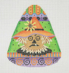 "BB 0589 Candy Corn Shaped Scarecrow 4"" x 3.25"" 18 Mesh Burnett And Bradley"