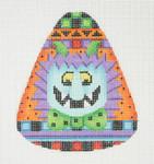 "BB 0596 Candy Corn Shaped Monster 4"" x 3.25""	18 Mesh Burnett And Bradley"
