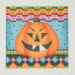 "BB 0617Halloween / Square / Pumpkin 3.5"" x 3.5""18 Mesh Burnett And Bradley"