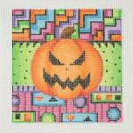 "BB 0618  Pumpkin 3.5"" x 3.5"" 18 Mesh Burnett And Bradley"