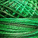 Valdani Pearl Cotton Size 12 Ball Explosion in Green - 12VAM79