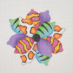 """BB 0661 Floral / Abstract / Fish Tails 3.75"""" x 3.75"""" 18 Mesh Burnett And Bradley"""