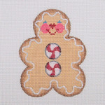 "BB 0714Gingerbread Man / Peppermint Buttons 3.5"" x 2.5"" 18 Mesh Burnett And Bradley"