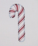 "BB 0717 Candy Cane / Red and White 5.25"" x 2.25"" 18 Mesh Burnett And Bradley"