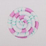 """BB 0713Pinwheel / Pink and Turquoise 2.75"""" Round 18 Mesh Burnett And Bradley"""