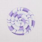 """BB 0747 Pinwheel / Purple 2.75"""" Round 18 Mesh Burnett And Bradley"""