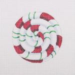 """BB 0745 Pinwheel / Red and Green2.75"""" Round 18 Mesh Burnett And Bradley"""