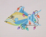 "BB 0795 Queen Trigger Fish / Christmas Lights 3.25"" x 5"" 18 Mesh Burnett And Bradley"