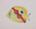 "BB 0798 Butterfly Fish / Red Bow 3"" x 4"" 18 Mesh Burnett And Bradley"