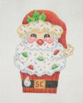 "BB 0906 Cupcake / Santa 4 1/2"" 18 Mesh Burnett And Bradley"