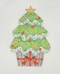 "BB 0907Cupcake / Christmas Tree 4 1/2""18 Mesh Burnett And Bradley"