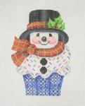 "BB 0908Cupcake / Snowman 4 1/2""18 Mesh Burnett And Bradley"