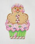 "BB 0910Cupcake / Gingerbread Man  4 1/2""18 Mesh Burnett And Bradley"