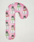 "BB 0916Christmas Candy Cane / Pink / Snowmen 4 1/2""18 Mesh Burnett And Bradley"