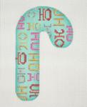 """BB 0917Christmas Candy Cane / Aqua / HO HO HO 4 1/2""""18 Mesh Burnett And Bradley"""