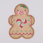 "BB 0926 Gingerbread / Girl / Heart Peppermint Center 3.5"" x 2.75"" 18 Mesh Burnett And Bradley"