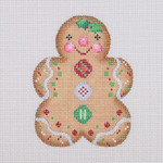 "BB 0928 Gingerbread / Girl / Red, White, and Green Buttons 3.5"" x 2.75"" 18 Mesh Burnett And Bradley"