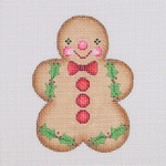 "BB 0929 Gingerbread / Boy / Red Buttons & Bow Tie 3.5"" x 2.75""	18  Mesh Burnett And Bradley"