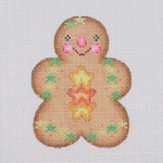 "BB 0933 Gingerbread / Boy / Yellow & Orange Star Buttons  3.5"" x 2.75""	18 Mesh Burnett And Bradley"